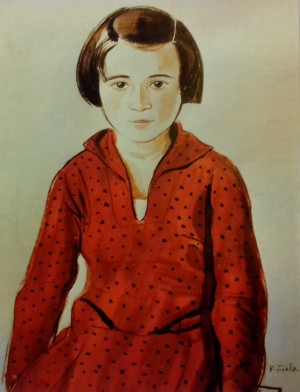Jewish Girl In Red Dress, 1936, ink on paper, 47,6х31,3