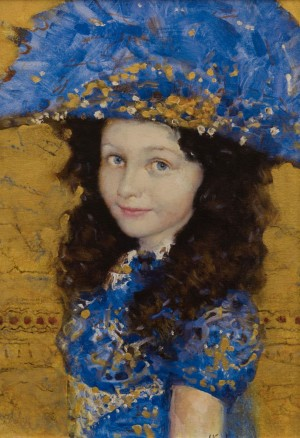 A. Kartashov Girl in blue, 55x35, c.о.аcr. 2014