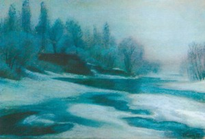 Morning Hoarfrost 1997 pastel on paper 41x61