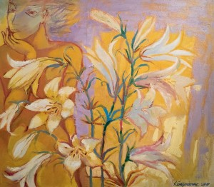 Lilies', 2011, oil on canvas, 70x80