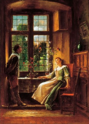 Conversation 1889 oil on canvas