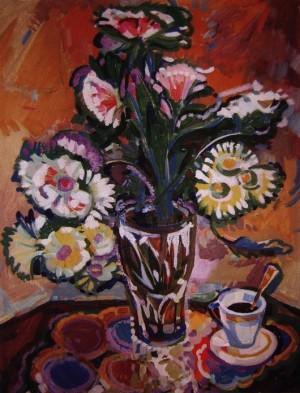 Кава і квіти, 2000, карт., о., 70х60