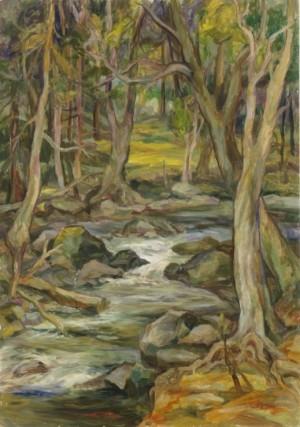 Оксамитовий потік, 1990, п.о., 100х70