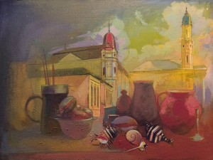 Still Life With Shells, 2010, oil on canvas, 60x80