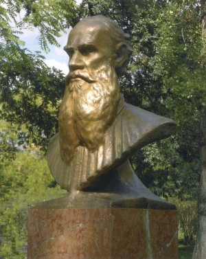 Portrait of L.Tolstoi, marble, bronze, H-245