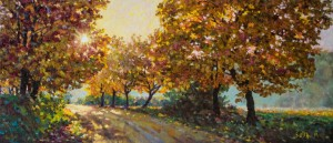 Maples in the Sun, 2014, 70x30