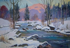Mountain River, 1978, oil on canvas, 60x90