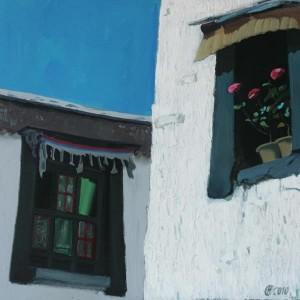 Вікна древнього монастиря, 2010, к.о., 90х90