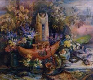 Натюрморт з підсніжниками, 2003, п.о., 60х70