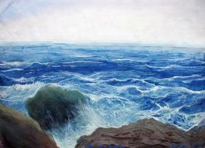 'Чорне море', 2000, пап.монотипія, зміш.техн., 60х80