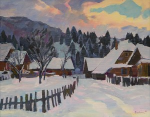 V. Vovchok Winter In Synevyr Village'