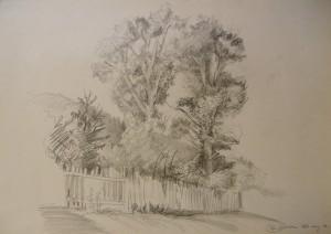 'Zolnia Village', 1986, pencil on paper, 61,5х43