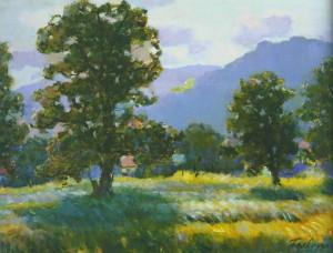 Польовий пейзаж Ужгородщини, 1963, 40x60