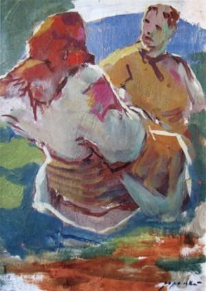 Верховинська пара, 1960, к.о., 41х30