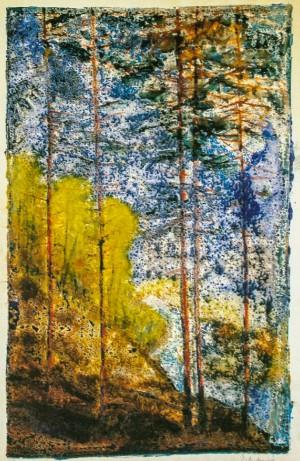 Ліс, 1960-ті рр., пап.монот.