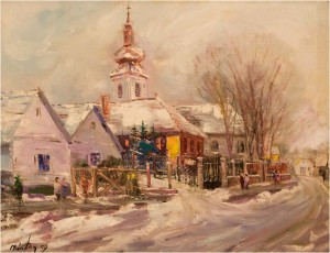 Orthodox Church With Onion-Like Cupola, oil on canvas, 76x95