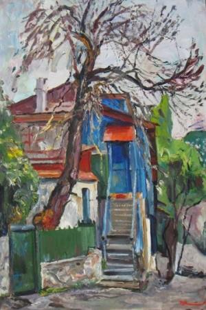 Blue House. Hurzuf', 1988, 73x51