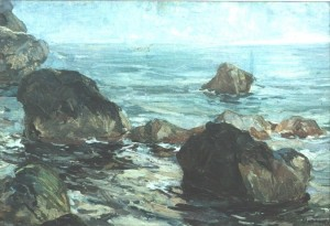In Crimea, oil on cardboard, 51х71,8