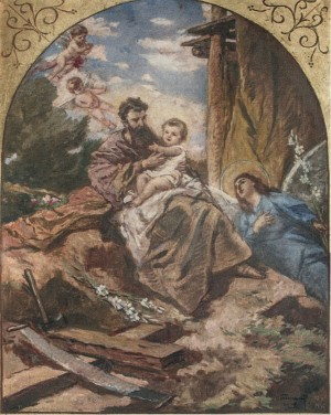 Joseph With Jesus, 1946, oil on cardboard, 100x80