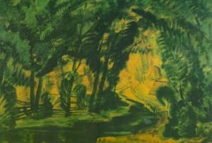 Лісовий струмок, 1931, карт.темп. 49х70