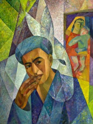 'Сім'я узбека', 1997, 123х98