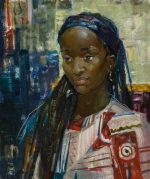Anna Luhovska. Portrait. 2017. 50х60