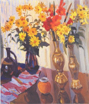 Autumn Bouquet, oil on canvas, 1982, 70x80