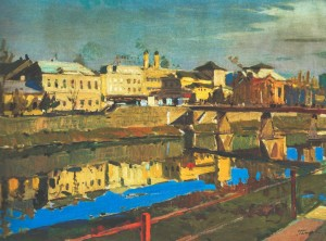 Uzhhorod Panorama, 1961, oil on canvas, 75х102,5