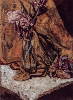 Irises,1922, oil on cardboard, 54x39