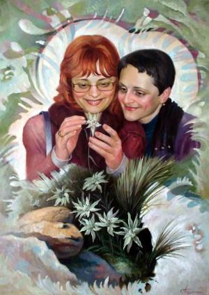 Оля Тимофієва і Світлана Терпелюк, 2009, п.о., 70х50