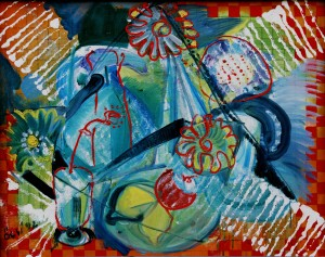Still Life, from the photo archive of Y. Nebesnyk, 1992, oil on canvas, 80x100