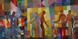 Glassblowers', 2008, 80x160