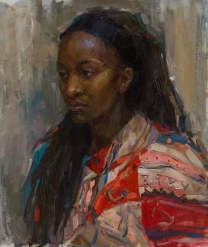 Marharyta Marushevska. Portrait. 2017. 50х60