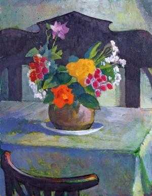 Flowers in the hut, 2004
