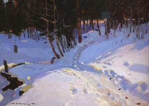 Ліс взимку, 1957, п.о. 47х65