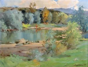Landscape, oil on canvas, 69x87