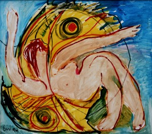 Night Butterfly from the photo archive of Y. Nebesnyk, 1994, oil on canvas, 72x81