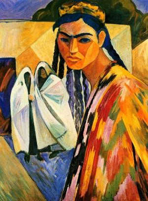 Smarkandski Women', 1969-1970, tempera on canvas, 80x60