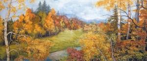 'Autumn Gold', 2005, oil on canvas, 70x128