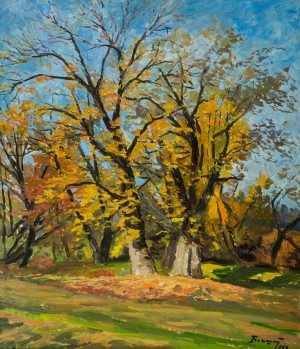 Autumn Trees, 1983, oil on cardboard, 70,5х65,5