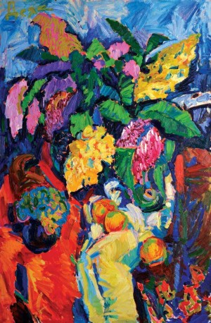 'Still Life With Lilac', 2007, oil on canvas, 120x80