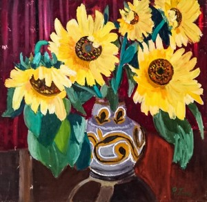 Vase With Sunflowers, 1981