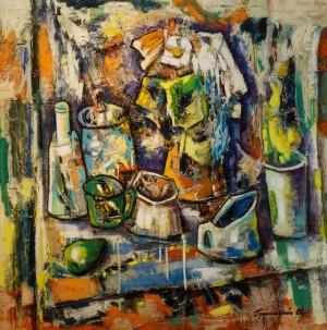 Громовий О. Натюрморт з зеленою грушою