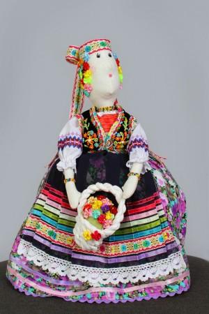 Марічка, 2014, текстиль, муліне, хрестик, вишивка бісером