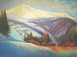 View On Hymba Mountain, 2010, oil on canvas, 60х80