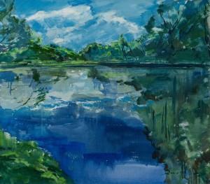 'Літній мотив', 2017, п.о., 80х70