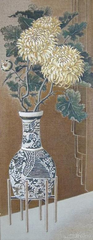 Хризантеми,п.о., 100х40