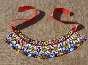 Kryzy, 2010, beads, threads