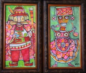 Diptych host and hostess