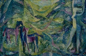 'Dawn', 1973, oil on canvas